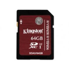Карта памяти Kingston 4K SDXC 64GB Class10 UHS-I U3 R90/W80MB/s